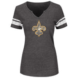 New Orleans Saints Womens Short Sleeve T-Shirt Go For Two