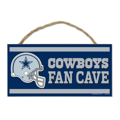 "Dallas Cowboys FAN CAVE Sign NEW! 5""X10"" Man Cave Rectangle"