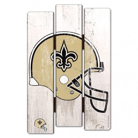 "New Orleans Saints Wood Fence Sign NEW! 11""X17"" Man Cave"