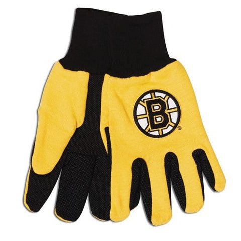 Boston Bruins Sport Utility Work Gloves NEW! NHL Free Shipping Gold