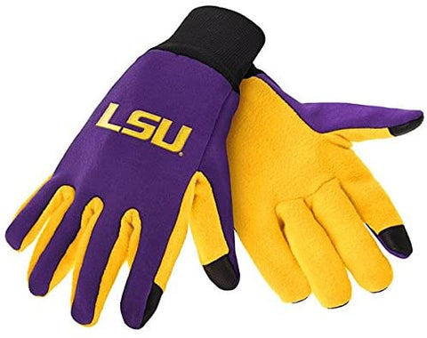 LSU Tigers Texting Gloves NEW One Size Fits Most FOCO