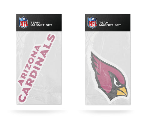 Arizona Cardinals Magnet Set 2 piece Logo Wordmark NEW NFL Free Shipping!