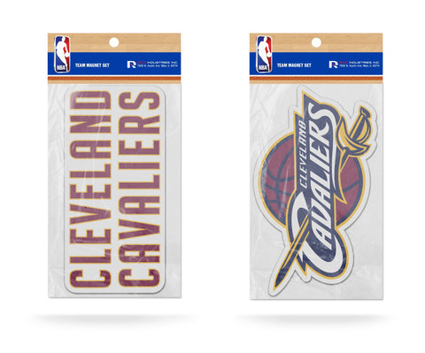 Cleveland Cavaliers Magnet Set 2 piece Logo Wordmark NEW Free Shipping!