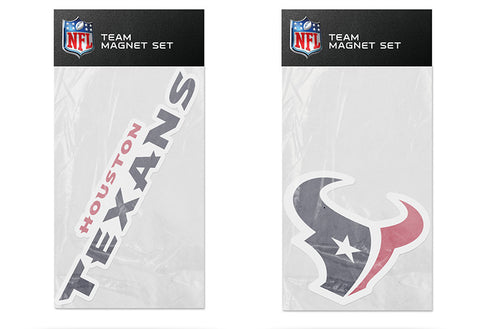 Houston Texans Magnet Set 2 piece Logo Wordmark NEW NFL Free Shipping!