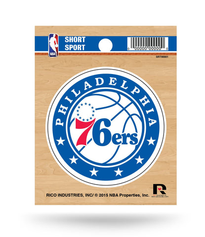 "Philadelphia 76ers 3"" x 3"" Die-Cut Decal Window, Car or Laptop!"