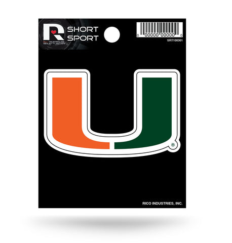 "Miami Hurricanes 3"" x 2"" Die-Cut Decal Window, Car or Laptop!"