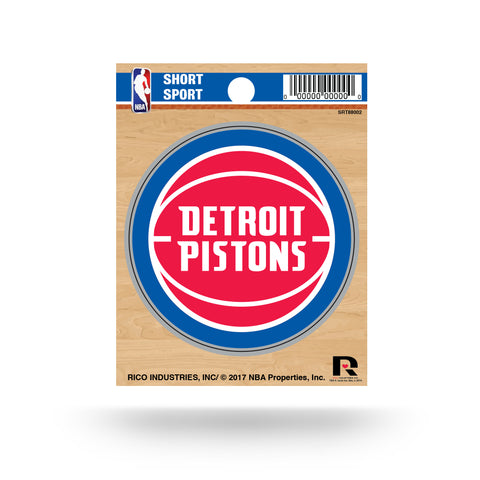 "Detroit Pistons 3"" x 3"" Die-Cut Decal NEW!! MLB Car or Laptop"