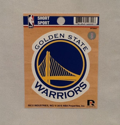 "Golden State Warriors 3"" x 3"" Die-Cut Decal Window, Car or Laptop!"