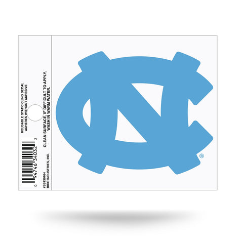 North Carolina Tar Heels Static Cling Sticker NEW!! Window or Car! NCAA
