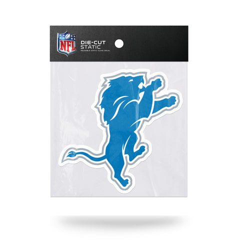 Detroit Lions Die Cut Static Cling Decal Sticker 5 X 4 NEW Car Window Reusable