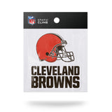 Cleveland Browns Die Cut Static Cling Decal Reusable 3 X 5 NEW! Car Window