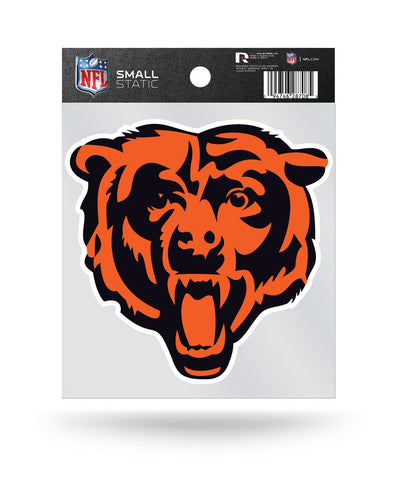 "Chicago Bears ""Head"" Logo Static Cling Sticker Decal NEW!! Window or Car!"