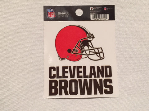 Cleveland Browns Window Static Cling Decal NFL Helmet