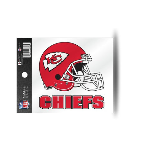 Kansas City Chiefs Helmet Static Cling Sticker NEW!! Window or Car! NFL