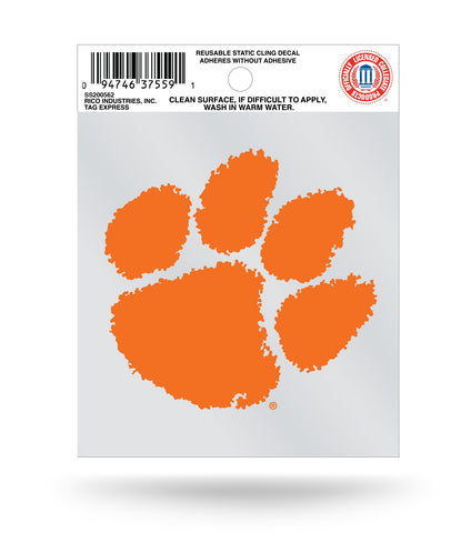 Clemson Tigers Small Static Window Cling