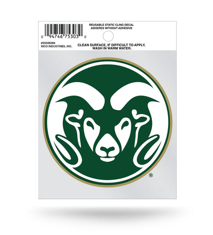 Colorado State Rams Circle Logo Static Cling Sticker NEW!! Window or Car! NCAA