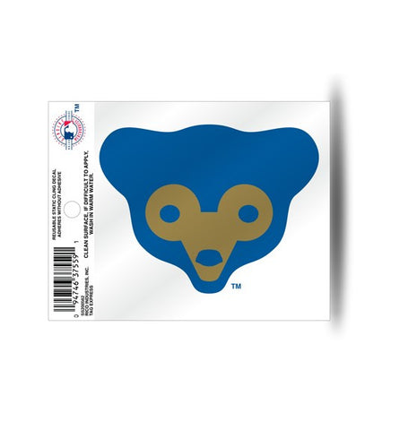 Chicago Cubs Retro Logo Static Cling Decal for Window Free Shipping NEW! MLB