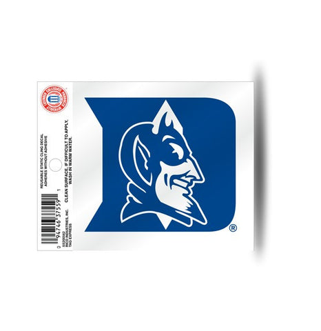 Duke Blue Devils Static Cling Sticker NEW!! Window or Car! NCAA