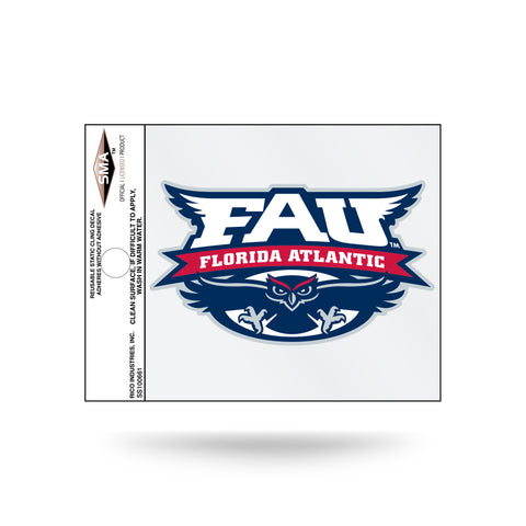 Florida Atlantic Owls Logo Static Cling Sticker NEW!! Window or Car! NCAA FAU