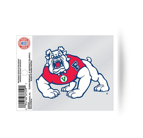 Fresno State Bulldogs Static Cling Sticker NEW!! Window or Car! NCAA