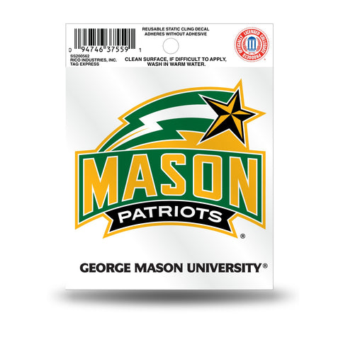 George Mason Patriots Static Cling Sticker NEW!! Window or Car! NCAA