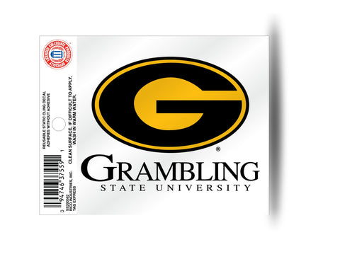 Grambling Tigers Circle Logo Static Cling Sticker NEW!! Window or Car! NCAA