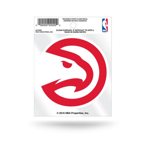 Atlanta Hawks Logo Static Cling Sticker Decal NEW!! Window or Car!