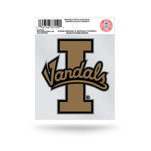 Idaho Vandals Logo Static Cling Sticker NEW!! Window or Car! NCAA