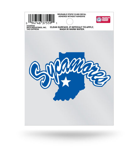 Indiana State Sycamores Static Cling Window Decal Sticker NEW!