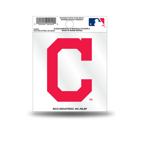 "Cleveland Indians ""C"" Logo Static Cling Sticker NEW!! Window or Car! Tribe"