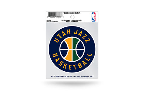Utah Jazz Circle Logo Static Cling Sticker NEW!! Window or Car!