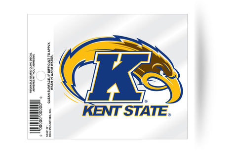 Kent State Golden Flashes Logo Static Cling Sticker NEW!! Window or Car! NCAA
