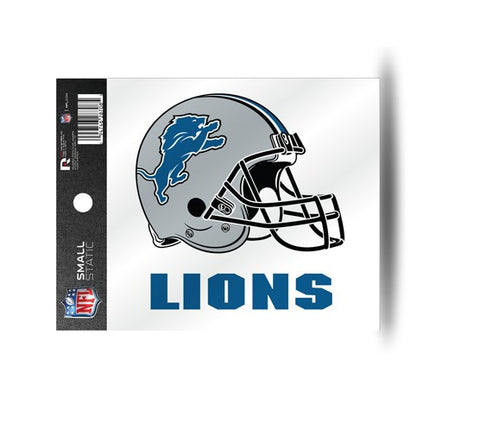 Detroit Lions Helmet Static Cling Sticker NEW!! Window or Car! NFL