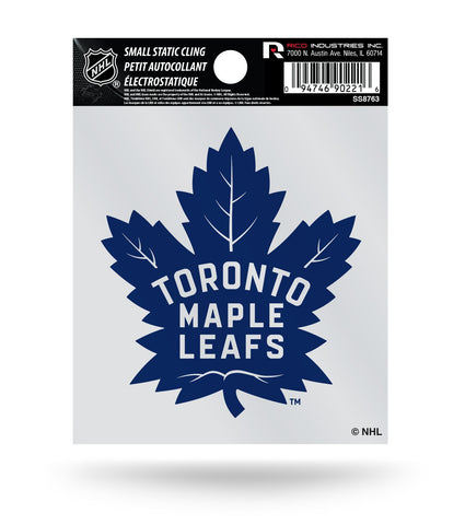 Toronto Maple Leafs NEW Logo Static Cling Decal Sticker NEW!! Window or Car!