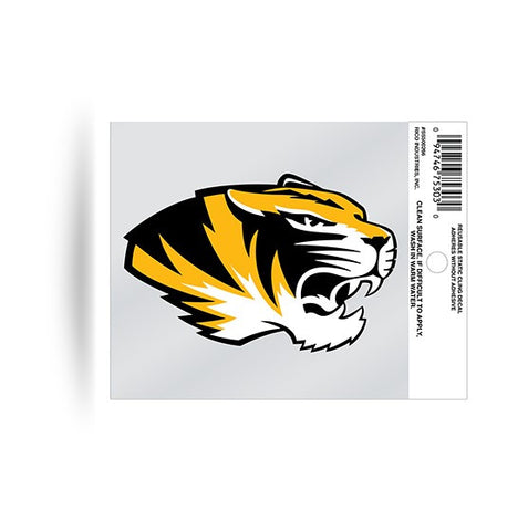 Missouri Tigers Head Logo Static Cling Sticker NEW!! Window or Car! NCAA Mizzou