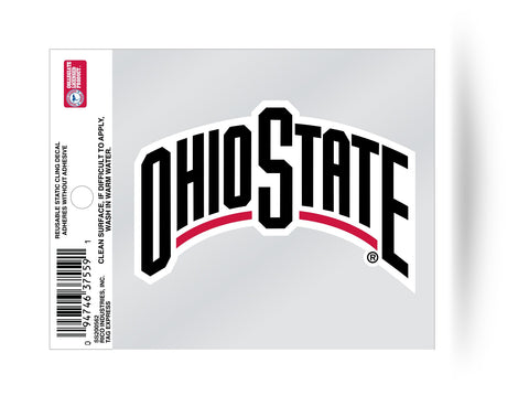Ohio State Buckeyes Wordmark Static Cling Decal NEW!! Car or Truck Window