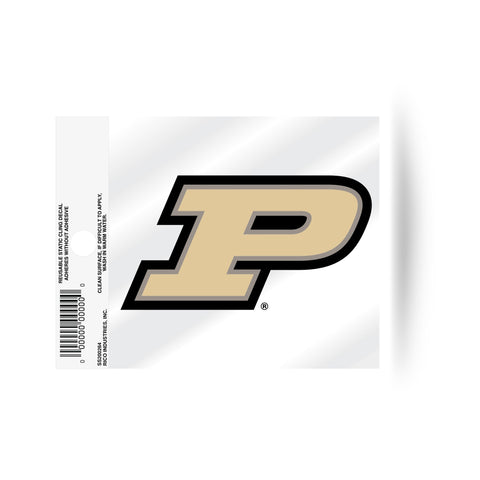 "Purdue Boilermakers ""P"" Logo Static Cling Sticker NEW!! Window or Car! NCAA"