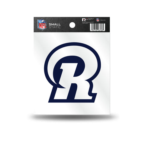 "Los Angeles Rams ""R"" Logo Static Cling Sticker NEW!! Window or Car!"