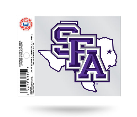 SFA Lumberjacks Logo Static Cling Sticker NEW!! Window or Car! NCAA