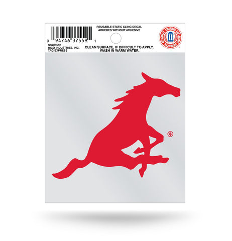 SMU Mustangs Static Cling Decal Free Shipping!
