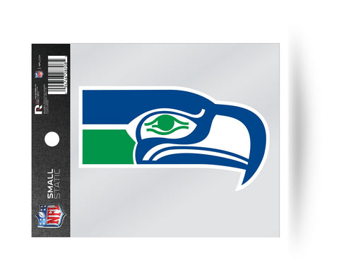 Seattle Seahawks Retro Logo Static Cling Sticker NEW!! Window or Car! Reusable