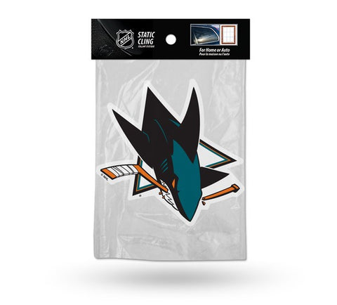 San Jose Sharks Die Cut Static Cling Decal Sticker 5 X 5 NEW!! Car Window