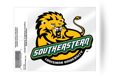 Southeastern Louisiana Lions Logo Static Cling Sticker NEW!! Window or Car! NCAA