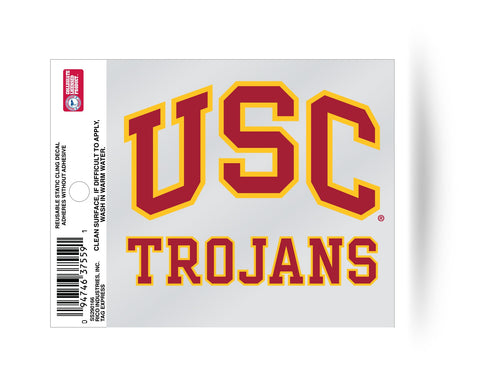 "USC Trojans ""USC"" Logo Static Cling Sticker NEW!! Window or Car! NCAA"