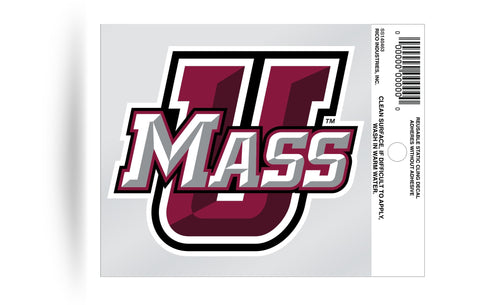 UMASS Minutemen Static Cling Sticker Decal NEW!! Window or Car!