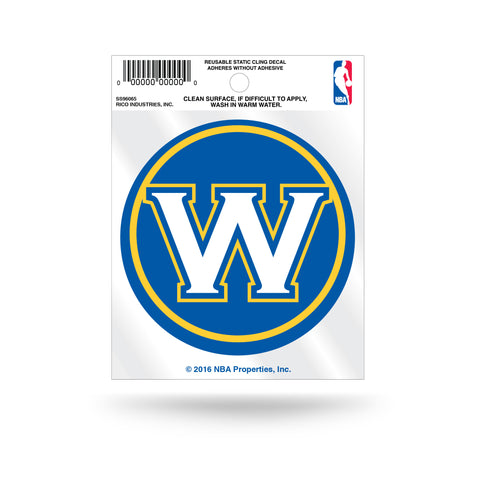 "Golden State Warriors ""W"" Logo Static Cling Decal"