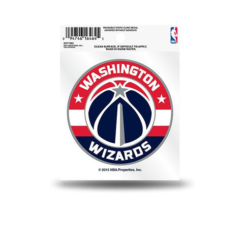 Washington Wizards Circle Logo Static Cling Sticker NEW!! Car Window!