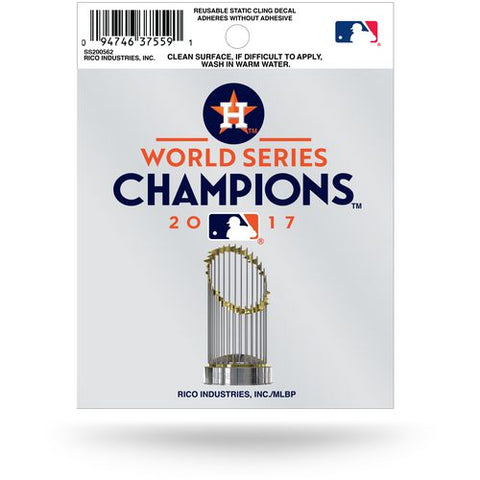Houston Astros World Series Champions Static Cling Sticker NEW!! Window or Car!