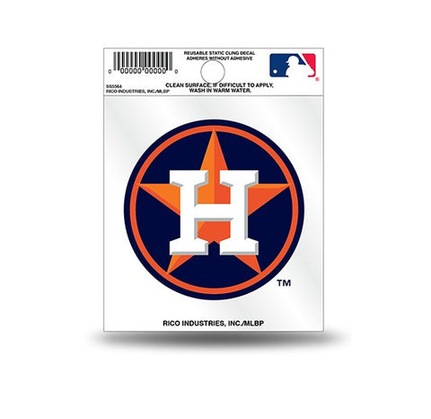 Houston Astros Circle Logo Static Cling Sticker Decal NEW!! Window or Car!