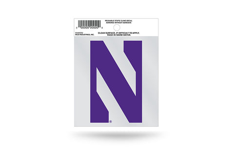Northwestern Wildcats Static Cling Sticker NEW!! Window or Car! NCAA